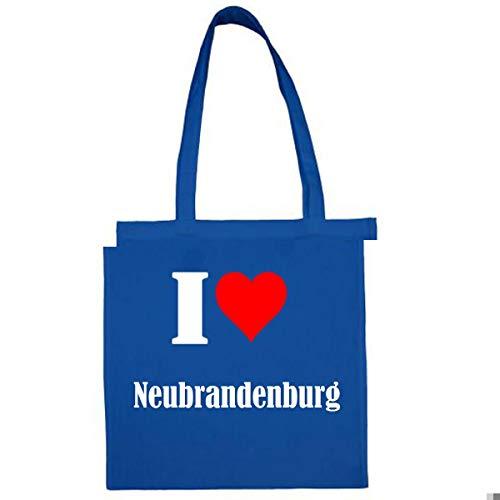 """Tasche""""I Love Neubrandenburg""""Größe""""38x42""""Farbe""""Grau""""Druck""""Schwarz"""