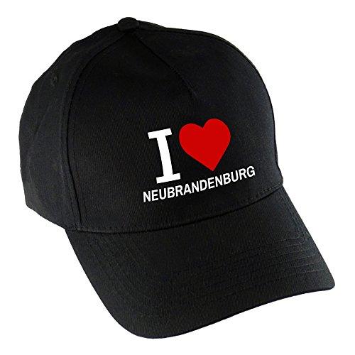 Baseballcap Classic I Love Neubrandenburg schwarz