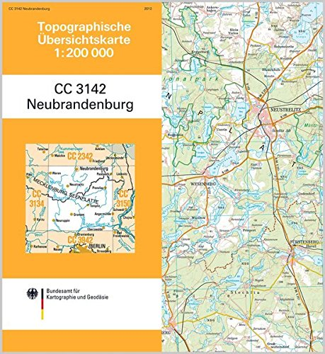 Neubrandenburg: Topographische Karte 1 : 200 000 CC3142 (Topographische Übersichtskarten 1:200000)