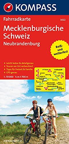 Mecklenburgische Schweiz - Neubrandenburg: Fahrradkarte. GPS-genau. 1:70000 (KOMPASS-Fahrradkarten Deutschland, Band 3022)